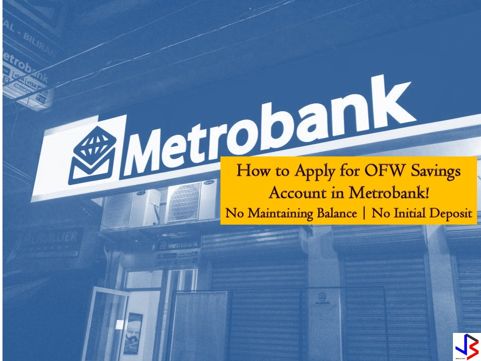 Every Overseas Filipino Workers (OFWs) should save money for emergencies, retirement or for starting a new investment or small business for families to have a stable income at home. Saving money in the bank is very important to protect your money from thieves and from unwanted expenses. Aside from this, your money in the bank will grow with interest as the time goes by. We all know that working abroad is not forever and saving for the future is a must.