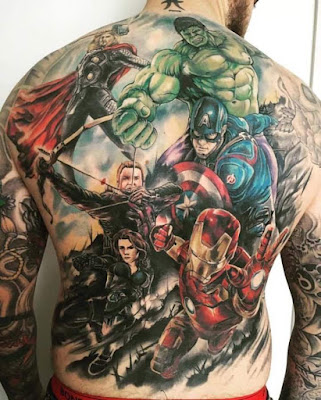 Tatuajes de Marvel : Tatuaje The Avengers