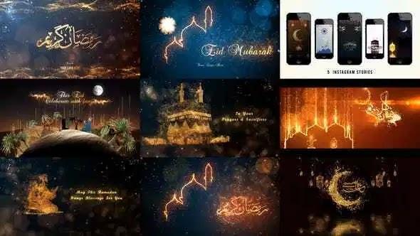 Videohive Eid Mubarak, Ramadan Kareem & Haj Mubarak (Arabic & English) Mega Pack V.6 3268280