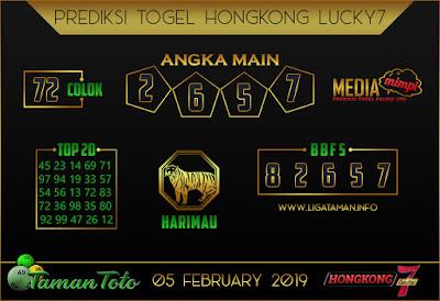 Prediksi Togel HONGKONG LUCKY7 TAMAN TOTO 05 FEBRUARI 2019
