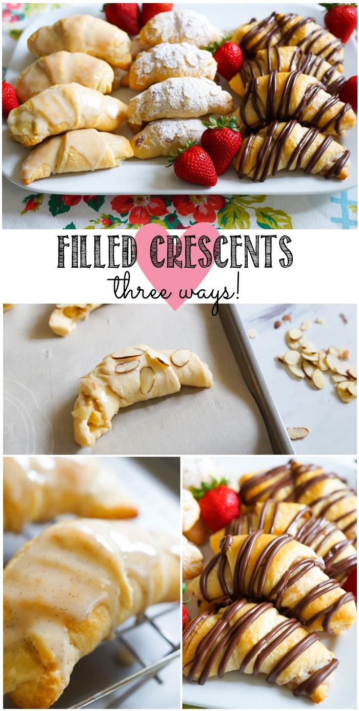 Filled Crescents, three ways! | bakeat350.net