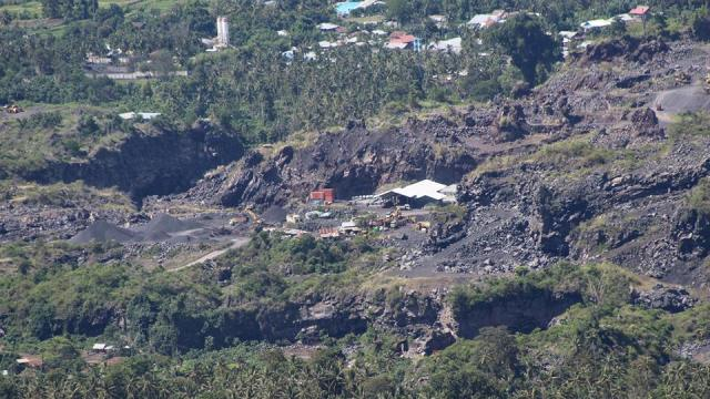 Lokasi Galian C di Desa Tateli.