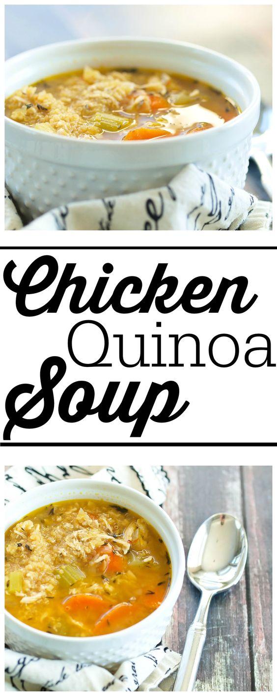 Chicken Quinoa Soup #chicken #chickensoup #quinoa #soup #souprecipes #healthysouprecipes