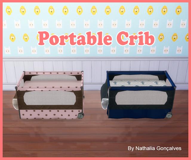 My sims 4 blog portable crib by nathaliasims - Sims 3 babyzimmer ...