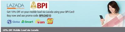 BPI Lazada Load promo, Philippines promo