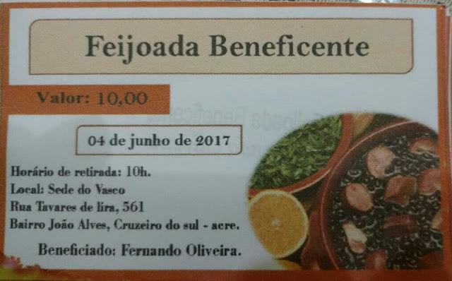 Ajude e compartilhe: Feijoada beneficente para Fernando
