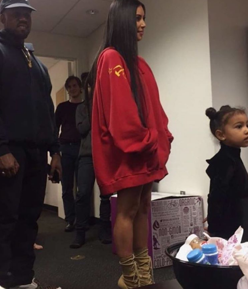 Kanye and Kim spotted at North West's ballet class