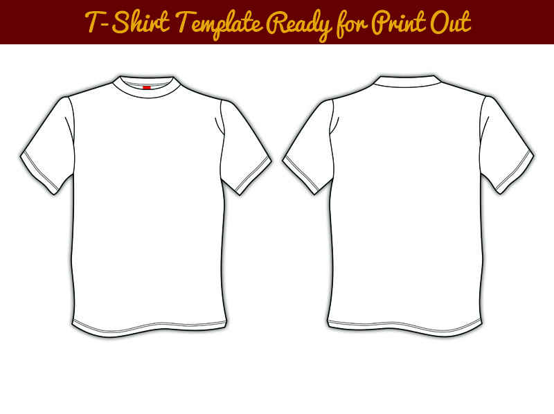 T Shirt Template Print Out PSD For Mockup