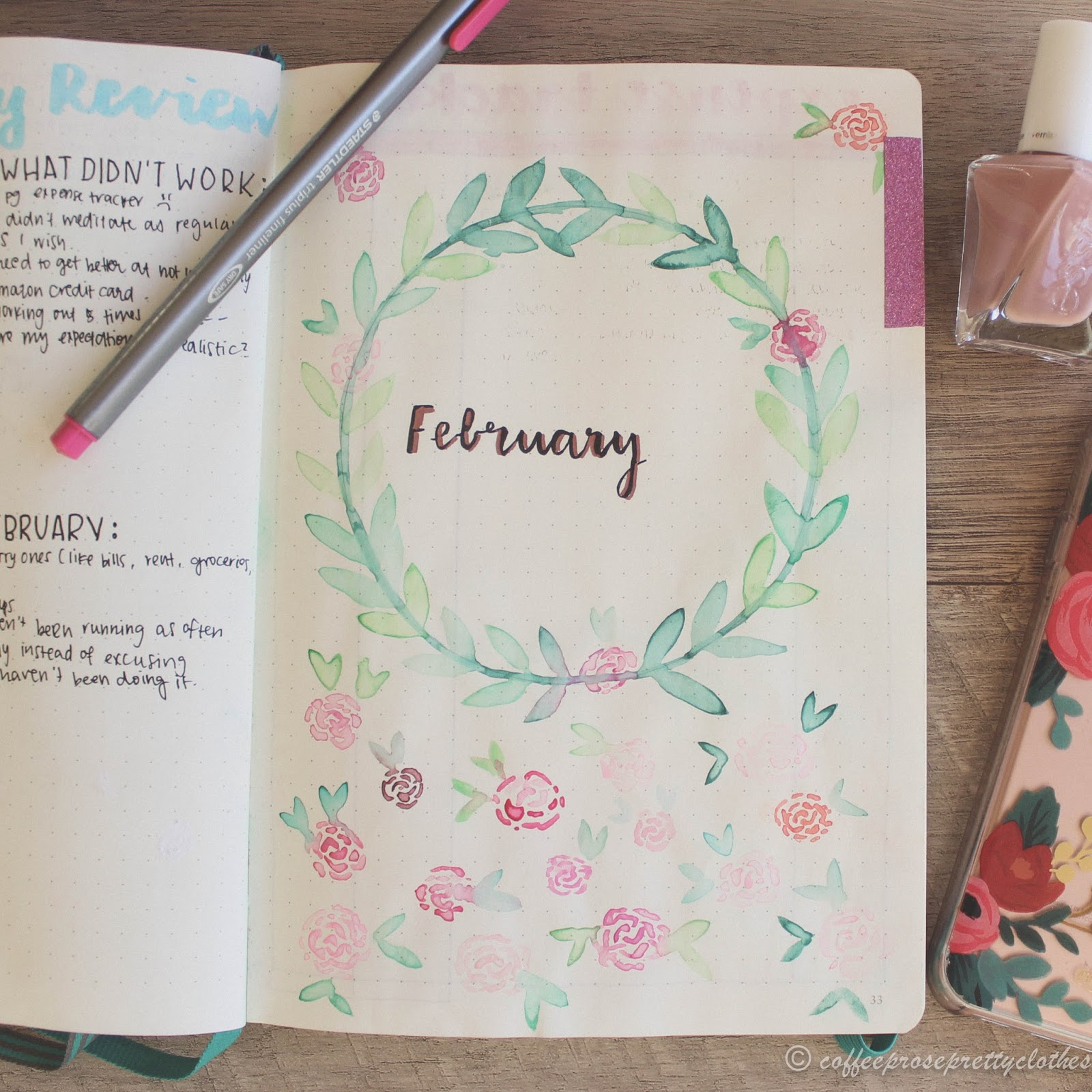 February Bullet Journal, Plan With Me