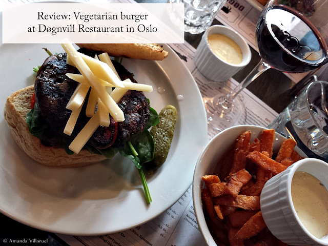 Review of the vegetarian burger at Dognvill restaurant in Oslo