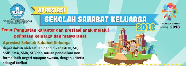 INFO LOMBA APRESIASI SEKOLAH SAHABAT KELUARGA TAHUN 2018