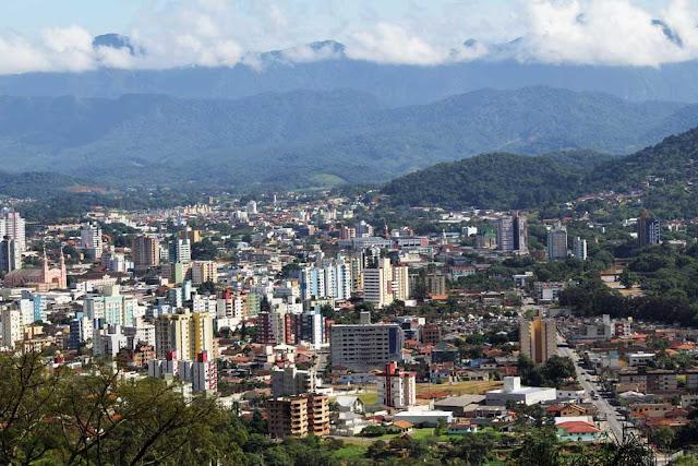 Vista aérea de Jaraguá do Sul - SC