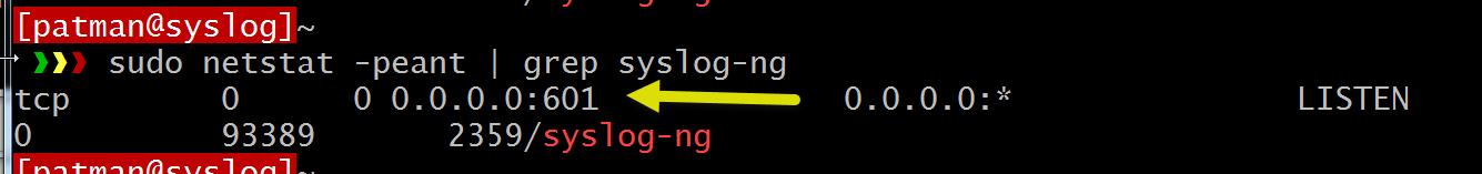 WhiteBoard Coder: Syslog-ng listen on port