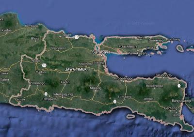 Peta Jalan di Jawa Timur