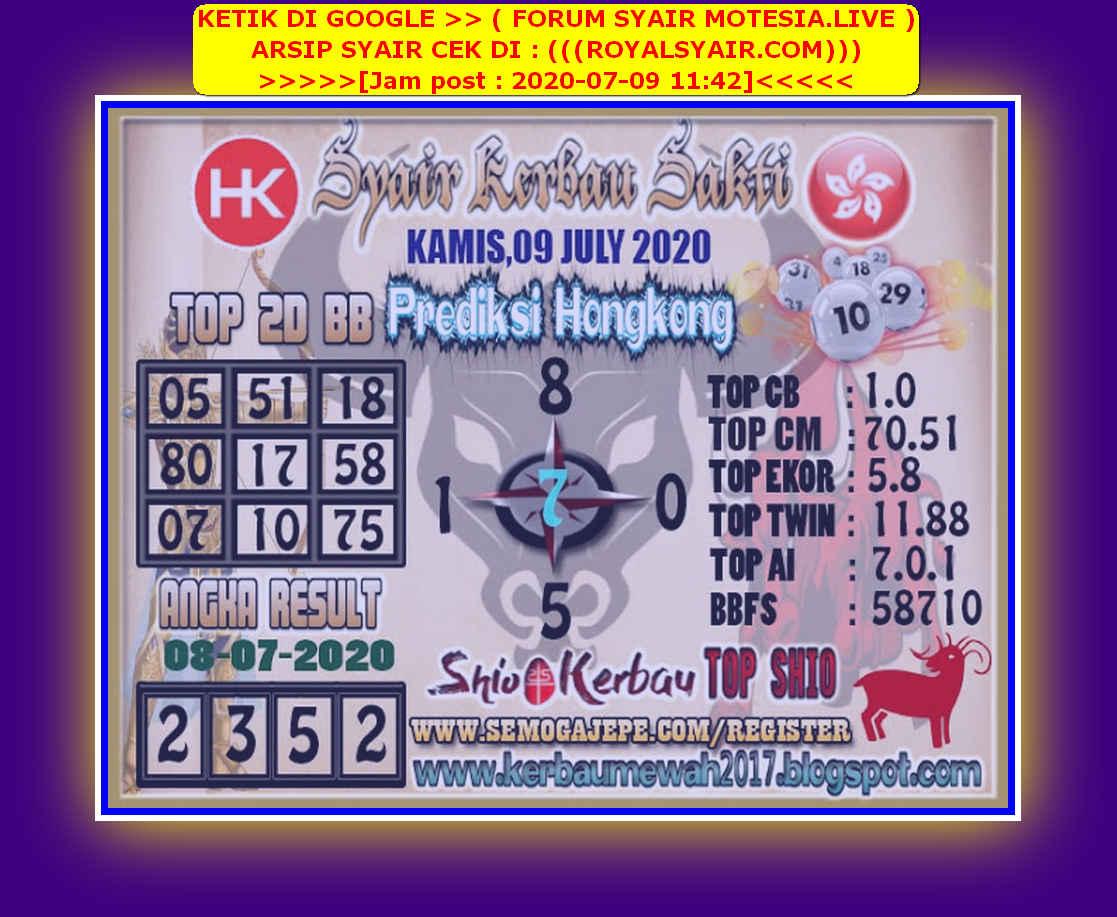 Kode syair Hongkong Kamis 9 Juli 2020 282