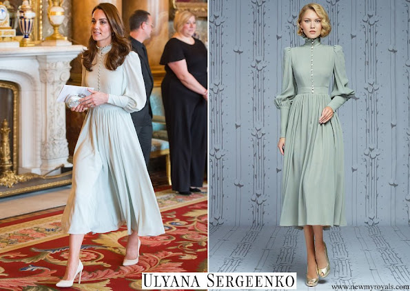 Kate Middleton wore Ulyana Sergeenko silk dress from Demi-Couture collection
