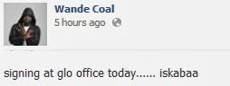 wande coal facebook