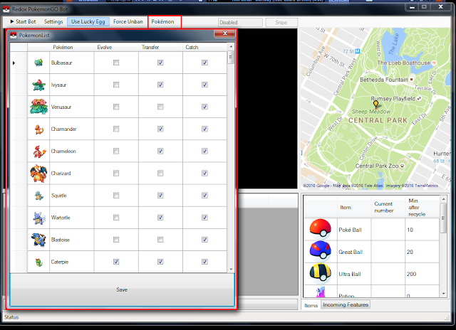 Cara Menggunakan Aplikasi RedoxBot Pokemon GO