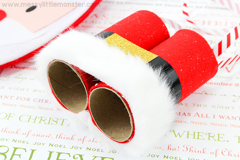 santa crafts for toddlers and preschoolers - santa binoculars