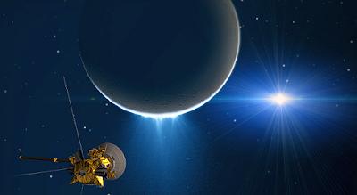 Exploración de Encelado la Luna de Saturno por Cassini