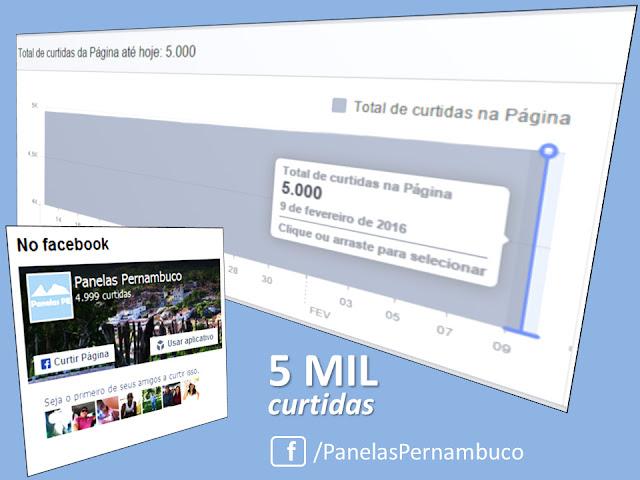 Panelas Pernambuco atinge a marca de 5 mil curtidas no Facebook