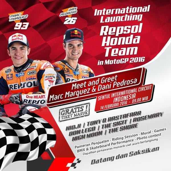 Hore! Marc Marquez Sudah Di Indonesia!