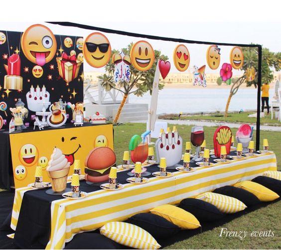14 Ideas Para Decorar Fiestas Con Emojis Mas Chicos - Preparativos-para-cumpleaos-infantil