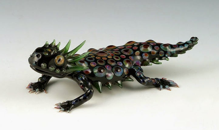 hand blown glass creatures sculptures scott bisson-10