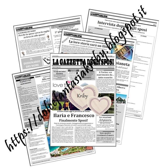 giornale degli sposi fai da te
