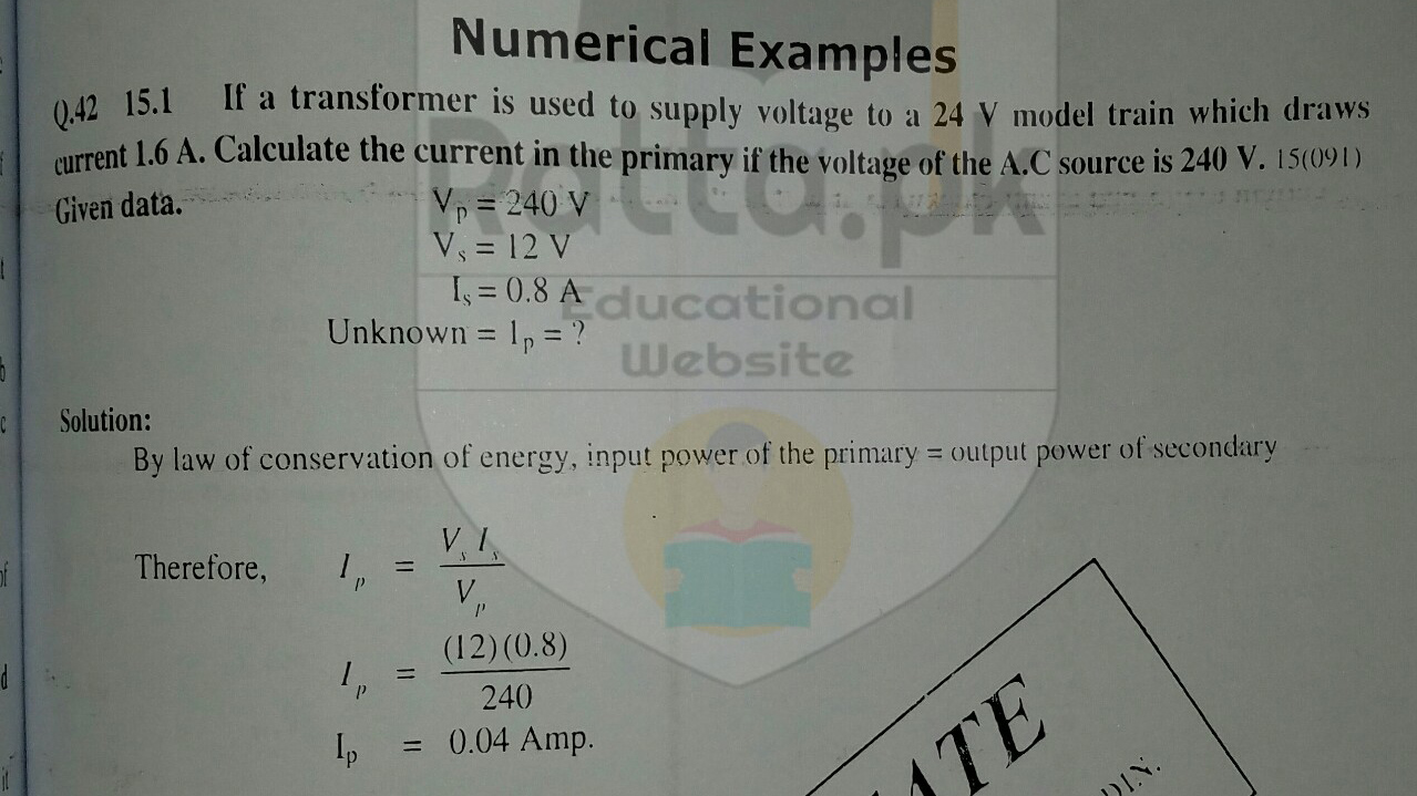 10th Physics Chapter 15 Numerical 1