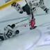 Collin Delia taken out by teammate Alex DeBrincat during Blackhawks warm-ups (Video)