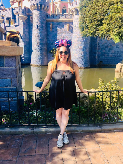 #BoundtoParkHop, Instagram photo challenge, clothing challenge, Disneyland, Disney bounding, Disney bounds, Jamie Allison Sanders, Favorite Park Outfit, Calvin Klein Dress, Converse All Star sneakers, Minnie Mouse polka dot ears