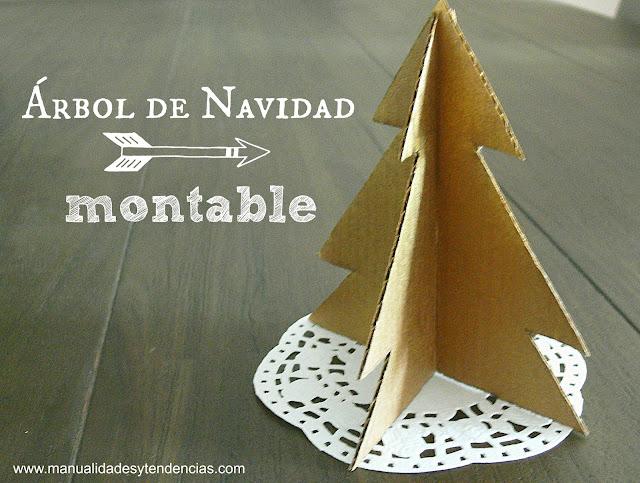 Cómo hacer un árbol de Navidad en 3D con cartón reciclado