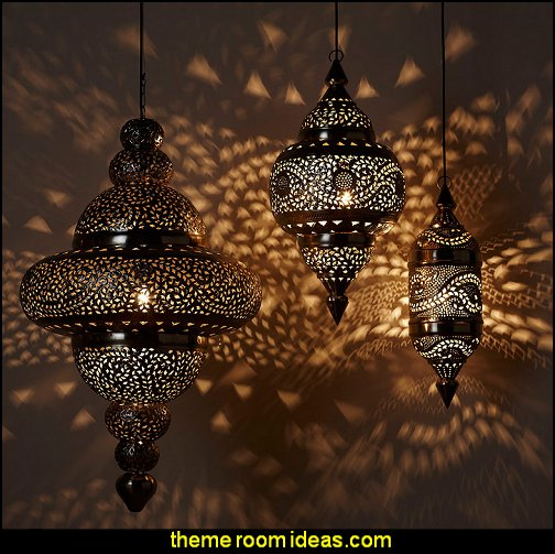 Moroccan Hanging Lamp     Moroccan decorating ideas