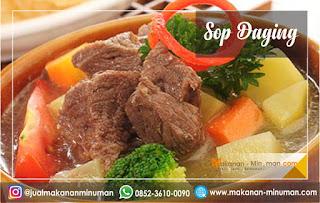 resep sop yang enak dan mudah dibuat, resep sop daging