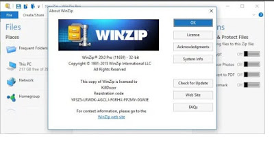 latest winzip activation serial key list
