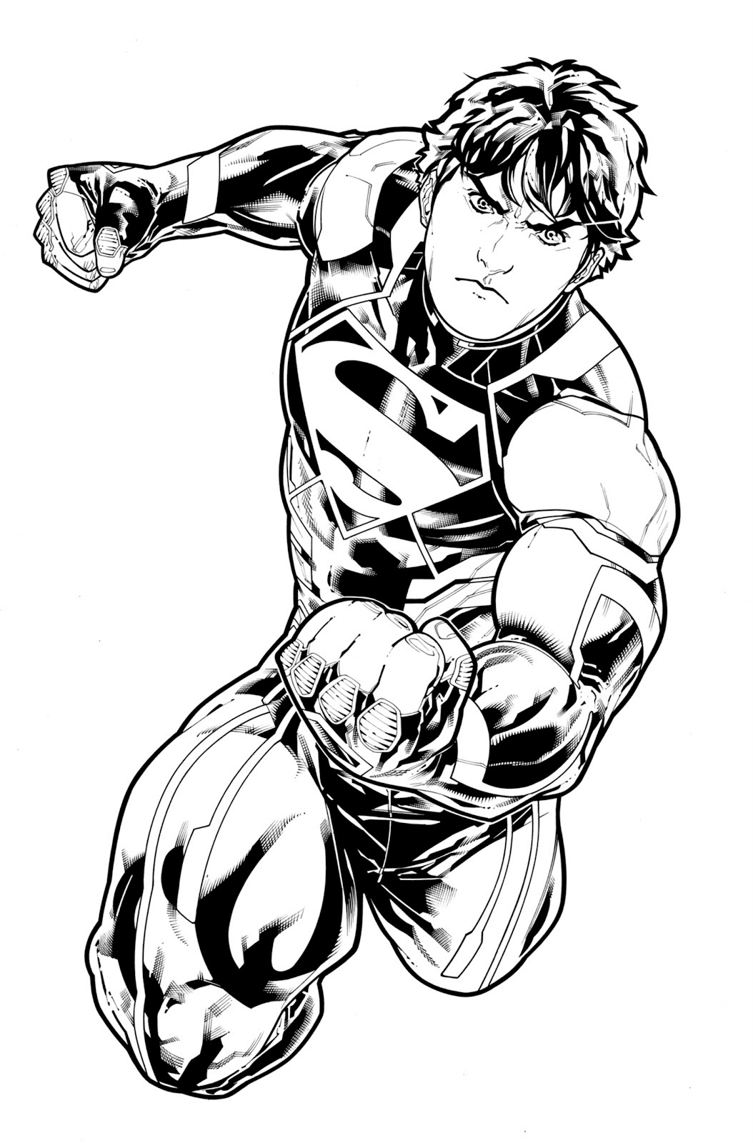 comic book character coloring pages - photo#8
