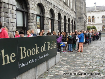 line for The Book of Kells in Dublin, Ireland