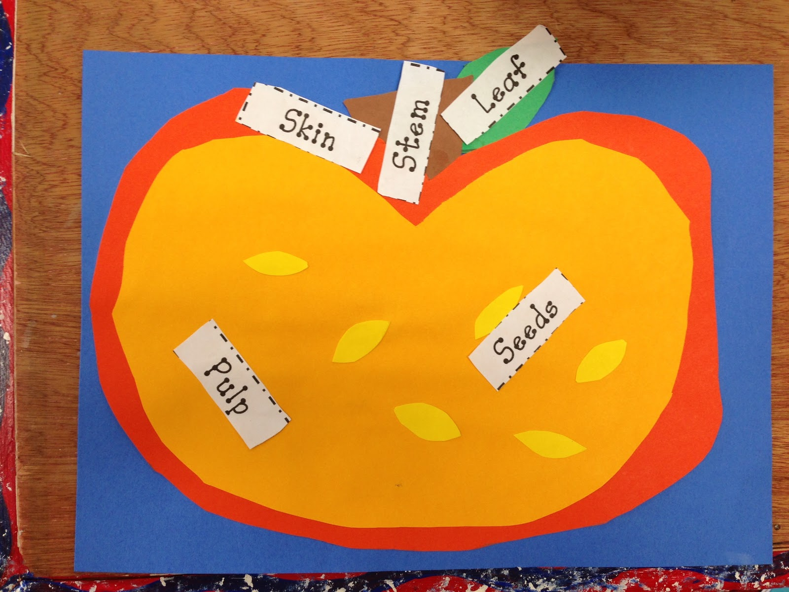 my student teacher also did a fun pumpkin diagram with my class  they  reviewed the parts of a pumpkin and then made their own pumpkin and labeled  the parts