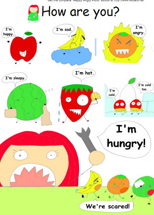 Kids ESL: All about teaching English to kids!: Happy Angry Fruit  An