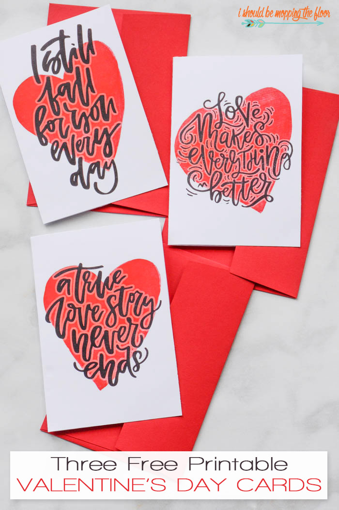 I Should Be Mopping The Floor Free Printable Valentines Day