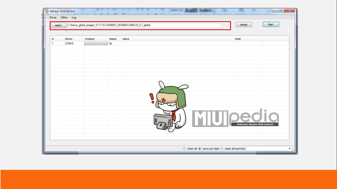 Gunakan MIFlashtool terbaru : Cara Mudah Step by step sukses flash ROM XIOMI menggunakan MIFlashtool
