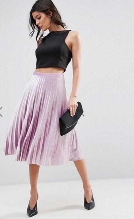 falda terciopelo