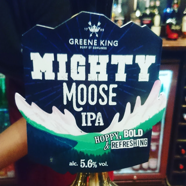 Suffolk Craft Beer Review: Might Moose IPA from Greene King pump clip real ale