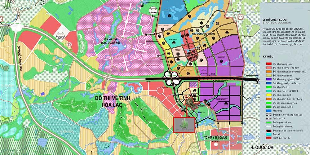Vị trí Biệt thự Phú Cát City Thạch Thất Hà Nội