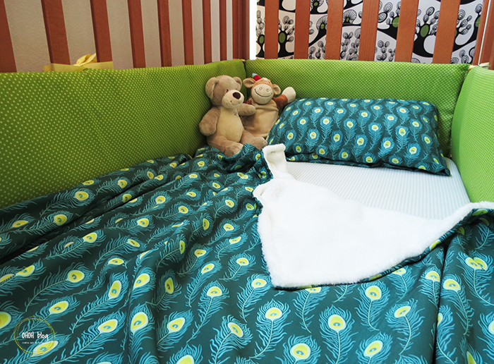 How to sew a crib bumper and a baby blanket