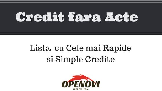 Credit FARA ACTE Rapid Online