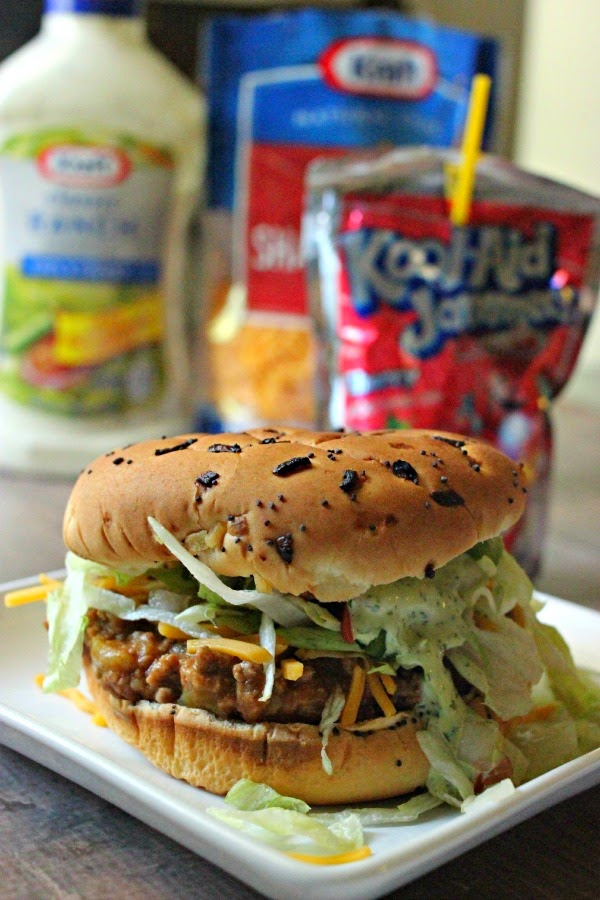 Recipe: Taco Burgers & Scallion Cilantro Lime Ranch. AKA Mexican Sloppy Joes or Bun Taco