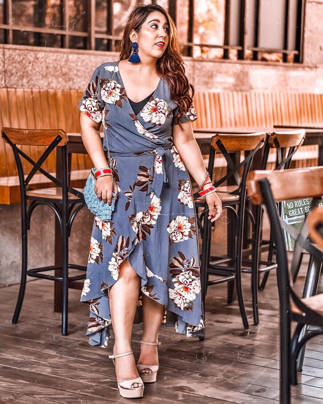 d3be30d1a75b ... and when mixed with a feminine silhouette - it makes for a perfect  statement making outfit, just like this wrap-around dress from Shein.