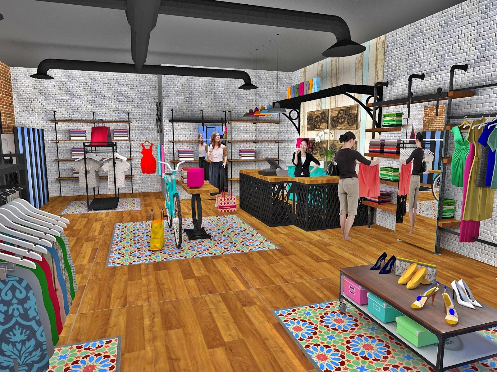 Dise o de interiores escuela de arte de motril tienda de for Decoracion de interiores locales de ropa